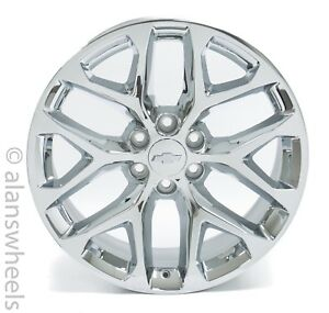 New Chevy Suburban Tahoe Factory Oem 22 Chrome Wheels Rims Lugs Ck156 Free Ship