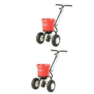 Earthway 50 Lb Commercial Broadcast Walk Behind Garden Seed Spreader 2 Pack