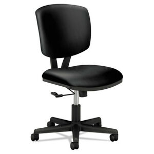 Hon 5701sb11t Volt Leather Task Chair For Office Desk With Casters Black New