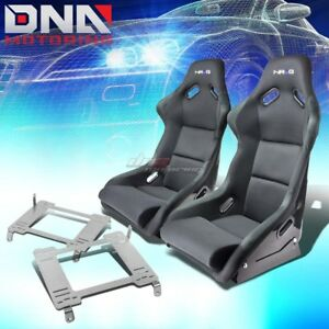 Nrg Fiberglass Bucket Racing Seats Full Stainless Bracket For 05 Gt500 Mustang