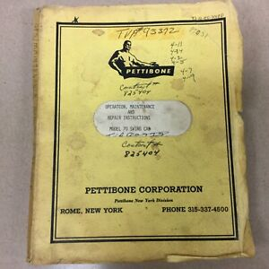 Pettibone 70 Crane Operation Maintenance Service Repair Manual Rough Terrain
