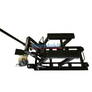 Motorcycle Lift Jack 1500lb 680kg Hydraulic Atv Stand Table Bench