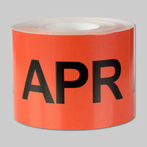 April Months Stickers Schedule Date Calendar Days Monthly Apr Labels 10 Rolls