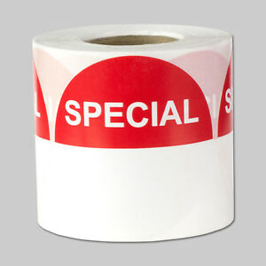 Special Retail Labels With Writing Space Blank Discount Sale Stickers 10 Rolls