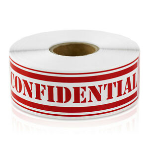 Confidential Labels Special Shipping Classified Secret Stickers 4 x1 10 Rolls