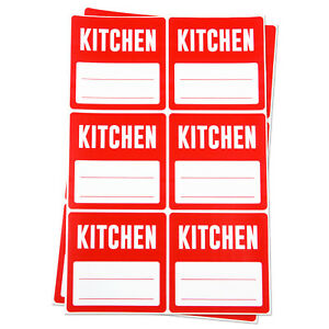 Kitchen Labels With Blank Memo Note Home Moving Box Write Stickers 3 x3 10 Pk