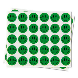 Circle Happy Face Smiley Classroom Stickers For Student Labels 0 5 10 Rolls