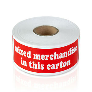 Mixed Merchandise Shipping Stickers Goods Sale Labels 1 5 X 4 10 Rolls