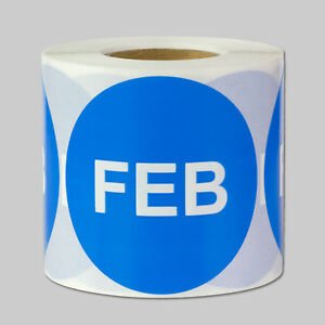 February Months Year Stickers Schedule Date Calendar Monthly Labels 10 Rolls