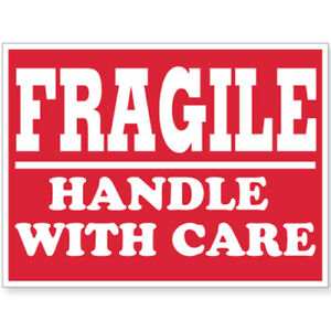 Please Fragile Labels Caution Warning Broken Care Stickers 4 X 6 10 Rolls
