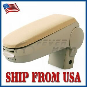 Us For 1999 04 Vw Mk4 Golf Jetta Front Cloth Center Console Armrest Box Beige Fm