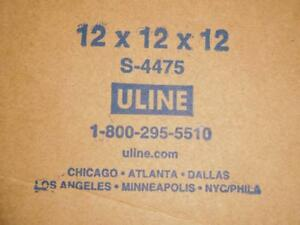 Lot Of 100 Uline 12x12x12 Shipping Moving Boxes 275 Rating