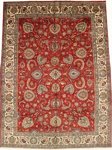 Semi Antique Classic 10x13 Hand Knotted Persian Rug Oriental Home D Cor Carpet