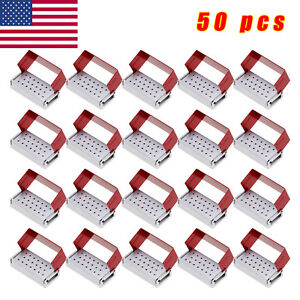 50x Dental Diamond Burs 20h W Disinfection Block High Speed Handpiece Holder