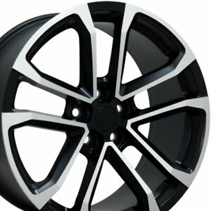 20 Camaro Zl1 Style Wheels Matte Black Machined 8 5 9 5 Set Of 4 Fits Chevrolet