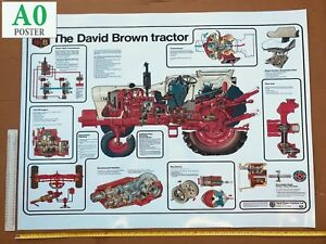 David Brown Tractor Poster 996 1690 1490 1210 1212 Selectamatic Cut Through
