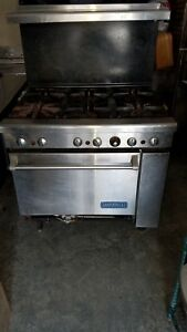 Imperial Six Burner Range With Oven Lp Gas