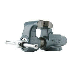 Wilton Serrated Machinist Bench Vise 4 1 2in Jaw Width Stationary Base 450n