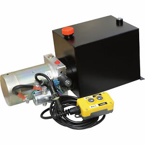 Nortrac Dump Trailer Power Unit W 12v Dc Motor For Single acting Cylinder