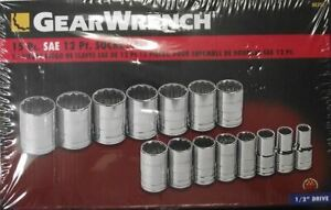 Gearwrench 80731 1 2 Drive Sae 12 Point Socket Set 15 Piece