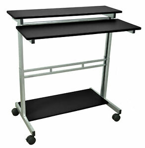 Luxor Av Cart With Casters Black
