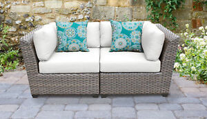 Tk Classics Florence Patio Sofa With Cushions White