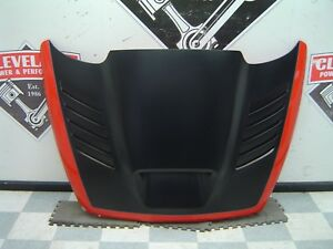 04 06 Ram 1500 Srt 10 Viper Truck Aftermarket Fiberglass Hood Assembly Damaged