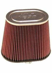 K N Air Filter Filtercharger Oval Tapered Cotton Gauze Red 4 Dia Inlet Rf 1040