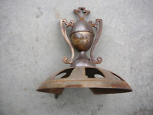 Antique Cast Iron Steel Swing Top Finial Trophy For Wood Burning Stove 12