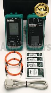 Black Box Fluke Microtest Certifiber Multimode Fiber Tester cert