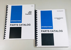 International 574 2500 Tractor D 239 D 188 Diesel Engine Parts Catalog Set