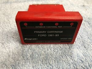 Lotb Mt2500 1293 Snap On Diagnostics Scanner Primary Cartridge Ford 1981 93