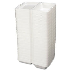 Genpak Foam Carryout Containers 9 1 5x6 1 2x3 White 100 bag 2 Bags ctn 20500 New