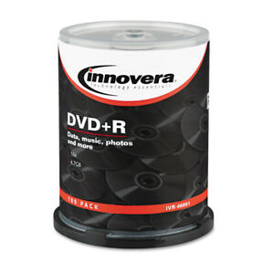 Innovera Dvd r Discs 4 7gb 16x Spindle Silver 100 pack 46891 New
