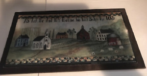 Saltbox House Church Me My House Serve Lord Vintage Kitchen Wall Decor Wood Sign