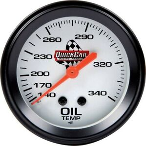 Quickcar 611 6009 Oil Temperature Gauge 2 5 8in 140 280f Range Nascar Imca Usmts