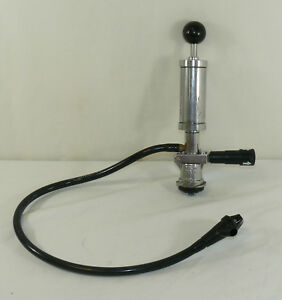 Micro Matic Beer Keg Tap Stainless Manual Pump With Spout Lever Handle And Hose