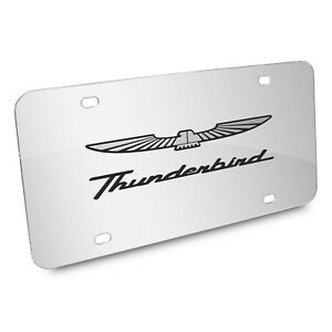 Ford Thunderbird 3d Mirror Chrome Stainless Steel License Plate