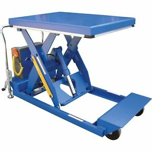 Vestil Portable Scissor Lift Table 3000 lb Cap 58in Raised Height pst 3 58