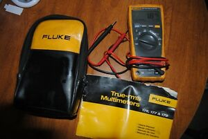 Fluke 177 True Rms Multimeter W Leads Case Instructions Digital