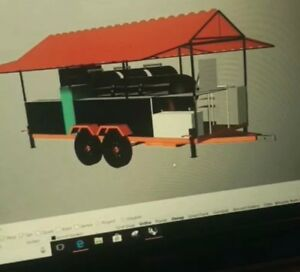 Bbq Vending catering Trailer