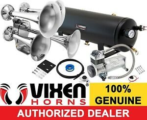 Train Horn Kit For Truck Car Semi Loud System 3g Air Tank 200psi 4 Trumpets