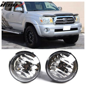 Fits 05 11 Toyota Tacoma Front Bumper Clear Fog Lights Left Right