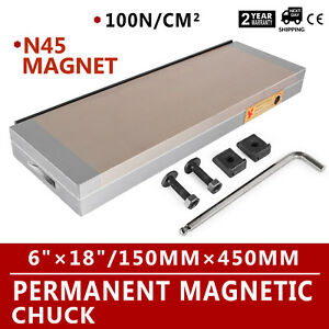 6x18 Magnetic Chuck High Precision N45 Magnet Material Stainless Steel Handle