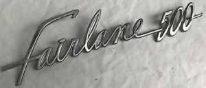 Vintage Ford Fairlane 500 Car Emblem