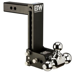 Bw Black Tow Stow Tri ball Hitch Receiver 1 7 8 2 5 16 2 Ts10050c Adjustable