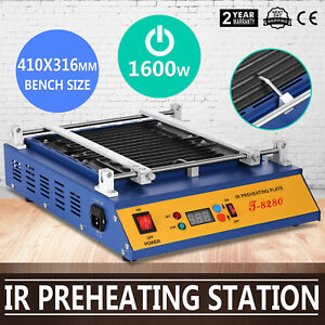 Ir Preheating Oven T 8280 Rework Station Temp set Button 1600w Bga Smd Updated