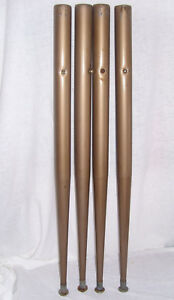Vintage Mcm Mid Century 4pc Tapered 28 7 8 Taupe Metal Kitchen Table Legs Lot