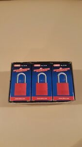 Case Of 6 Abus 72 30 Aluminum Safety Padlocks Blue Keyed Different new Condition