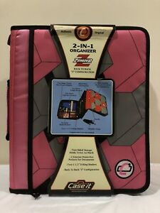 Case It The Z Binder 2 In 1 Organizer 2 Sided Storage Holds Twice As Much